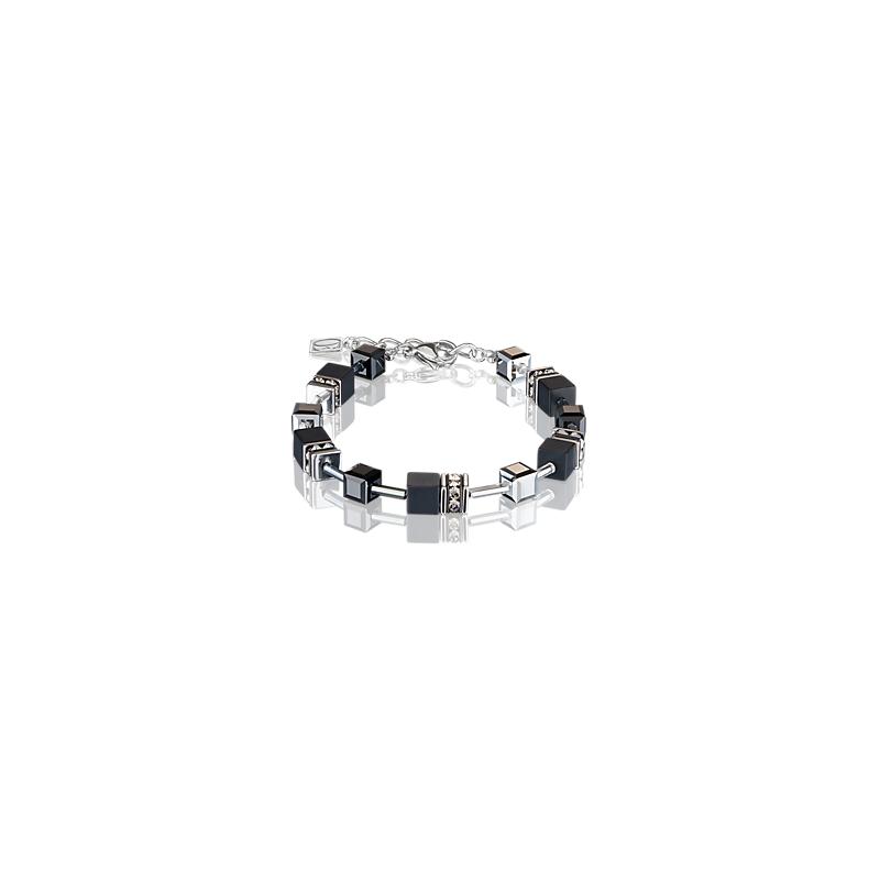Coeur De Lion GeoCUBE® Bracelet onyx black-silver