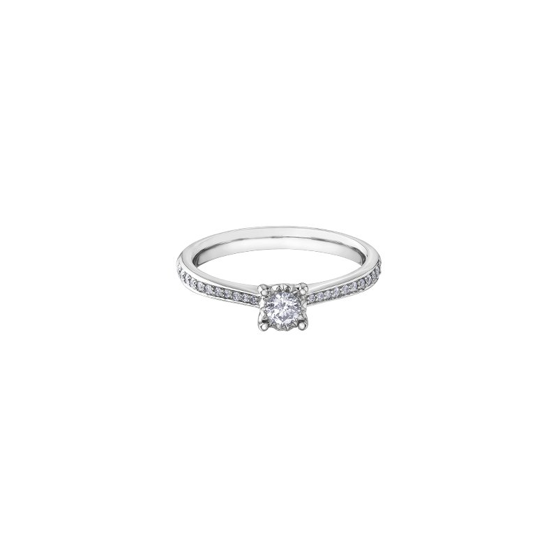 D of D Signature Round Brilliant Bridal Ring