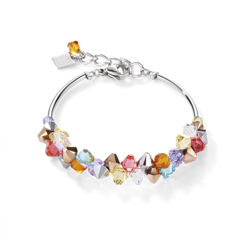 Bracelet Swarovski® Crystals & stainless steel multicolour pastel 1