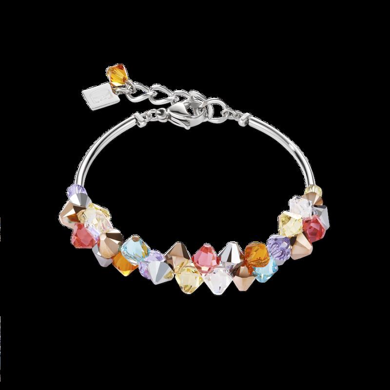 Coeur De Lion Bracelet Swarovski® Crystals & stainless steel multicolour pastel 1