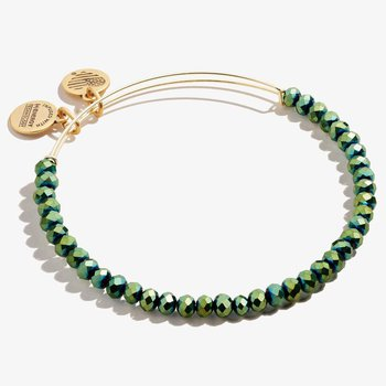Brilliance Beaded Bangle, Emerald