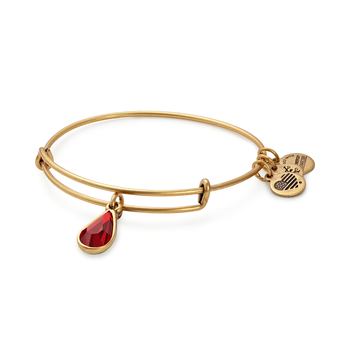 July birthstone adjustable bangle
