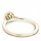 Noam Carver Round brilliant bridal ring with halo