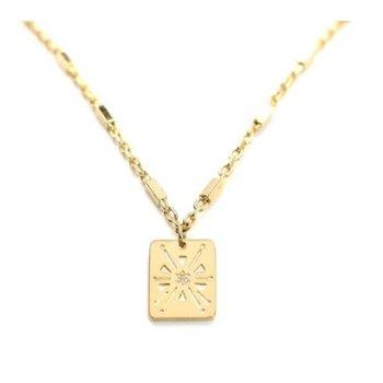 Sunburst Gold Necklace