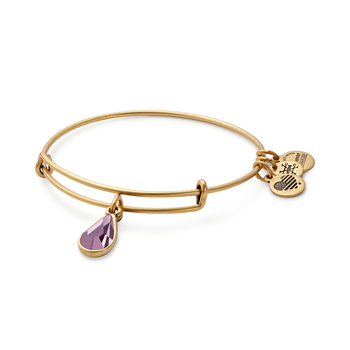 Jun birthstone adjustable bangle