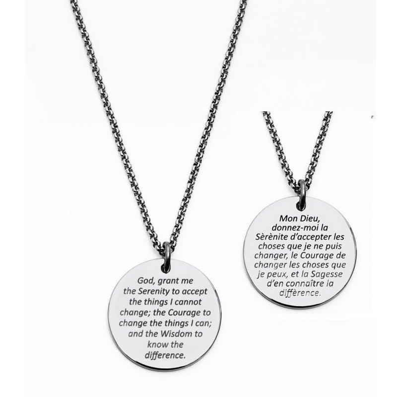 STEELX Steelx Serenity Prayer Necklace