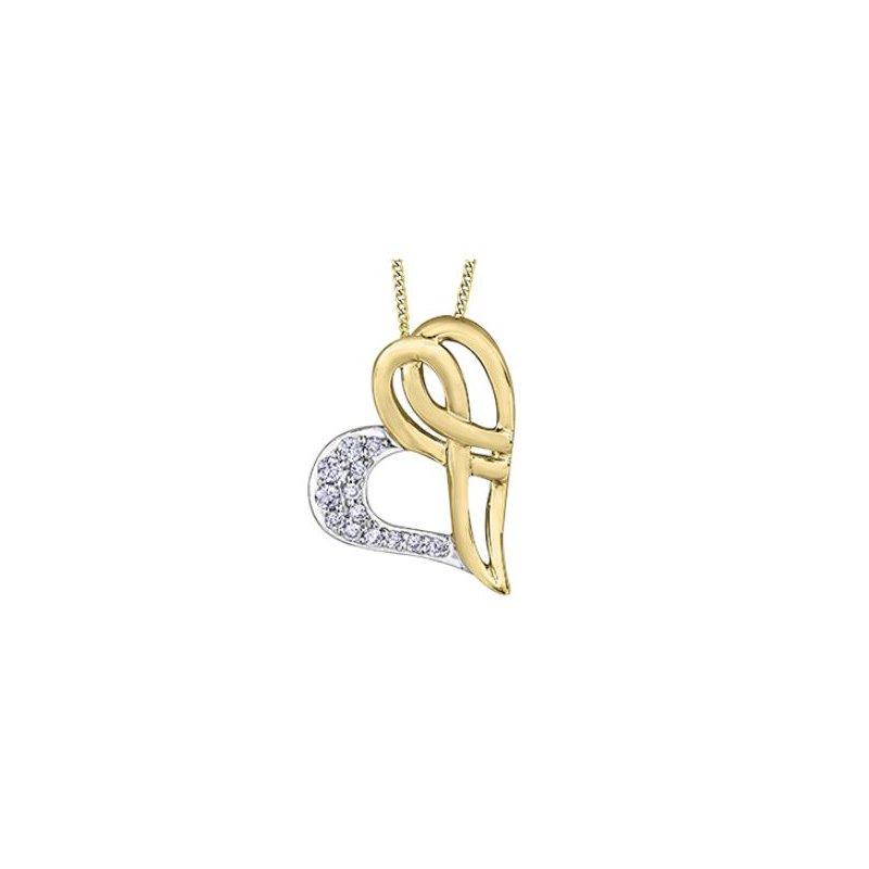 D of D Signature Diamond Heart Pendant Necklace