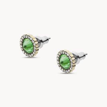 Green Stainless Steel Stud Earrings