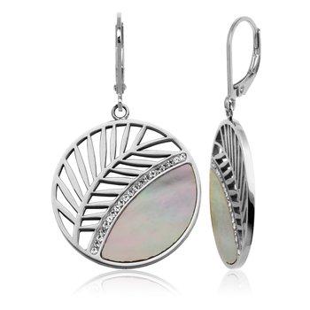Leaf dangle earring