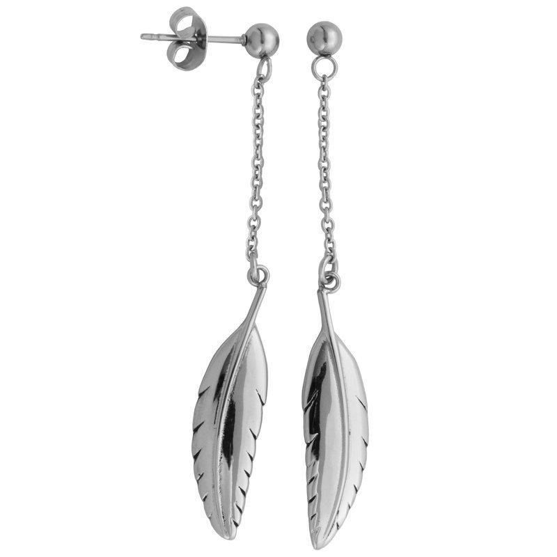 STEELX Feather Dangle Earring