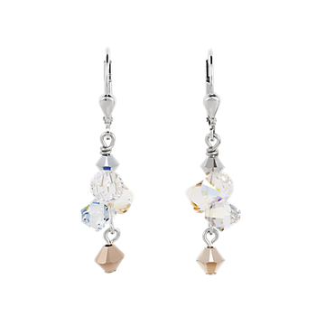 Earrings Swarovski® Crystals rose gold-silver