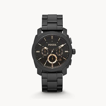 Chronograph Black Stainless Steel Watch