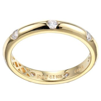 GOLD TONE CZ RING