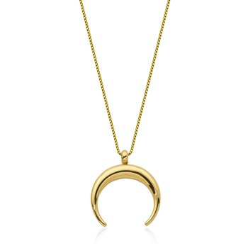 Gold Plated Cresent Moon Pendant