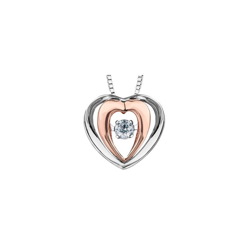 Pulse Diamond Heart Pendant