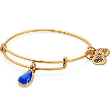 Sept birthstone adjustable bangle
