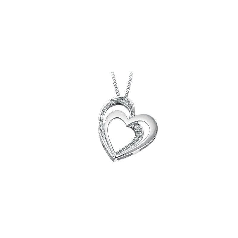 D of D Signature Heart diamond pendant