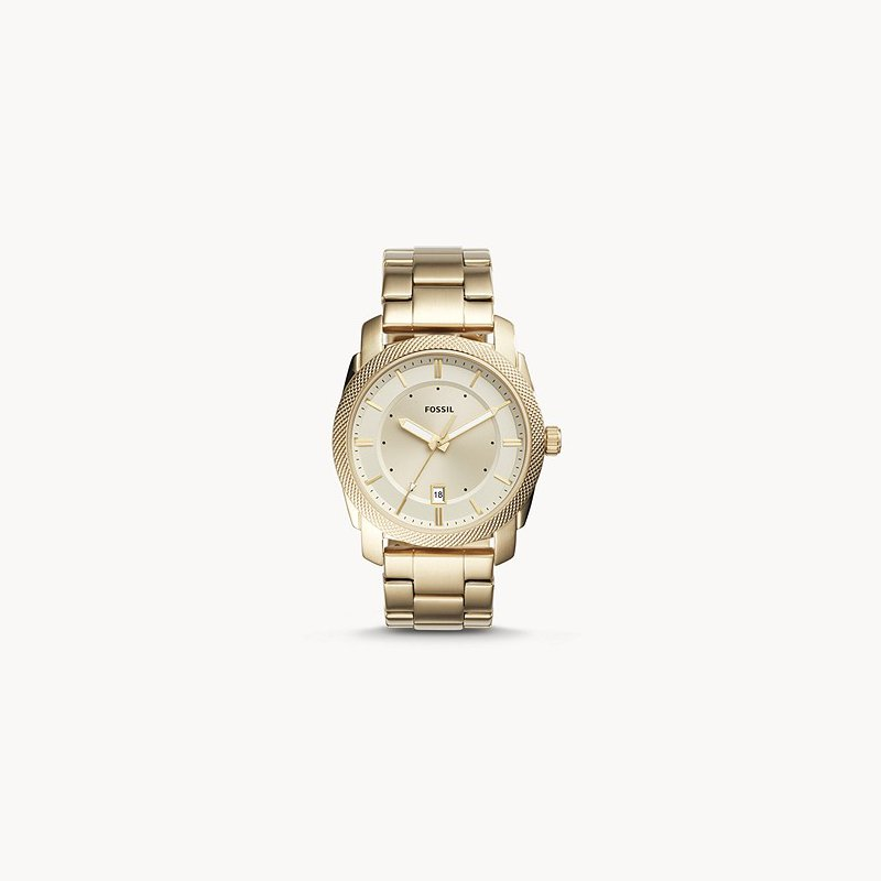 Fossil Three-Hand Date Gold-Tone Stainless Steel Watch