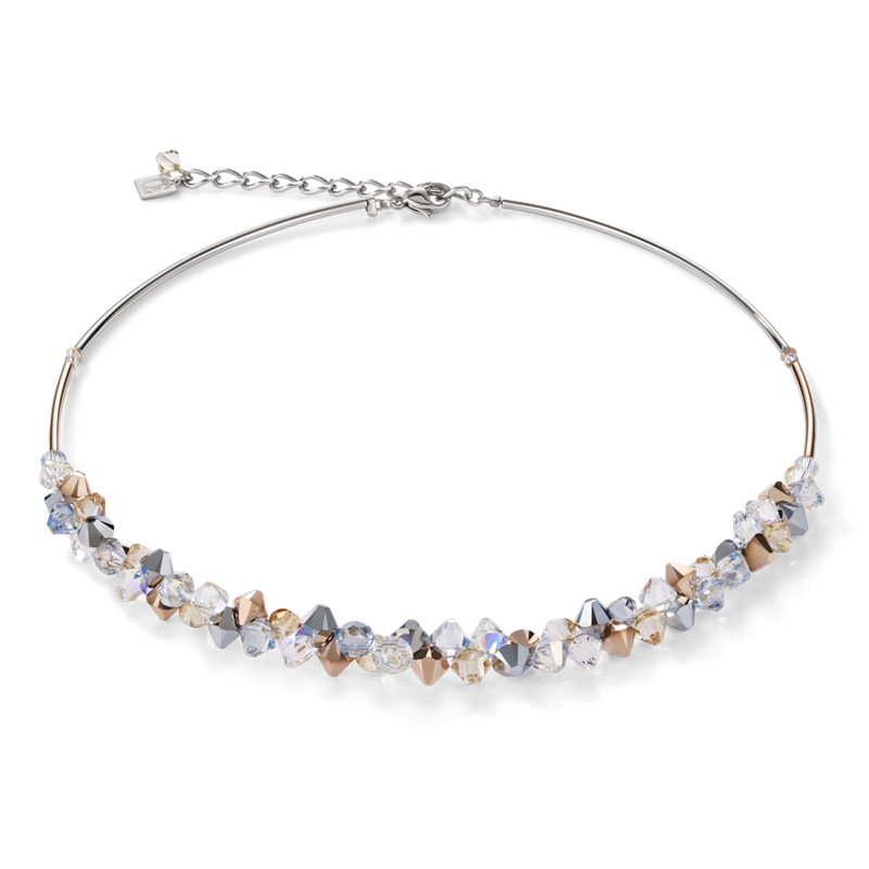 Coeur De Lion Necklace Swarovski® Crystals & stainless steel rose gold-silver