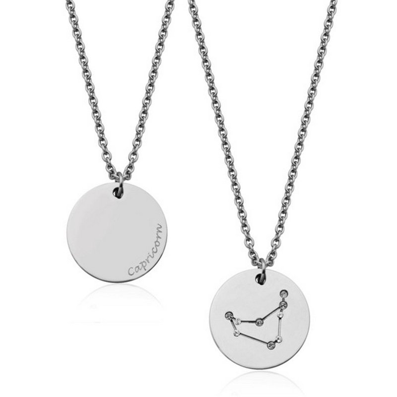 STEELX Constellation Zodiac Pendant-Capricorn
