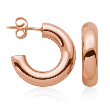 Rose Gold Plated Open Hoop Earring