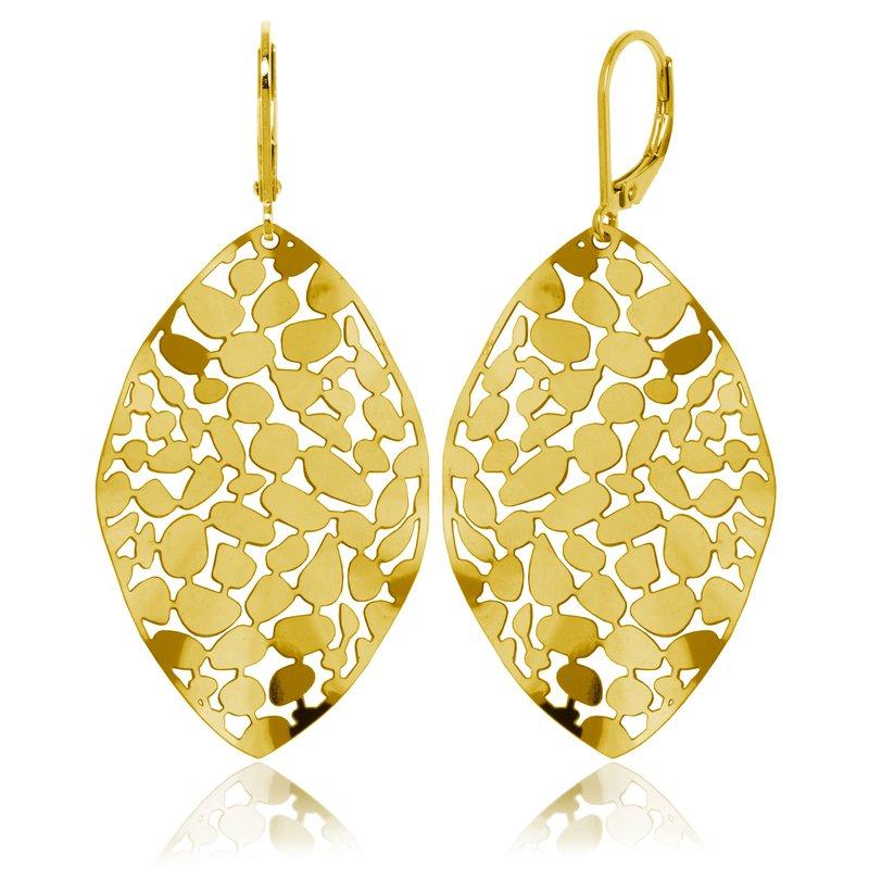 STEELX Leaf dangle earring