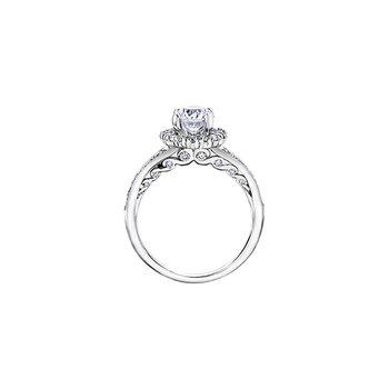 Maple Leaf Diamond Bridal Ring