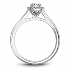 Noam Carver Oval Diamond Bridal Ring with Halo