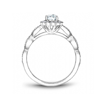 Oval Diamond Bridal Ring with Halo