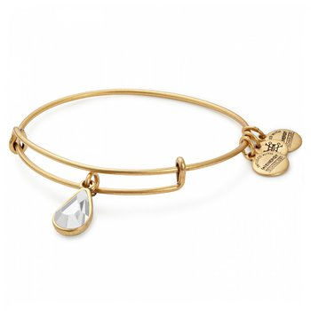 Apr birthstone adjustable bangle
