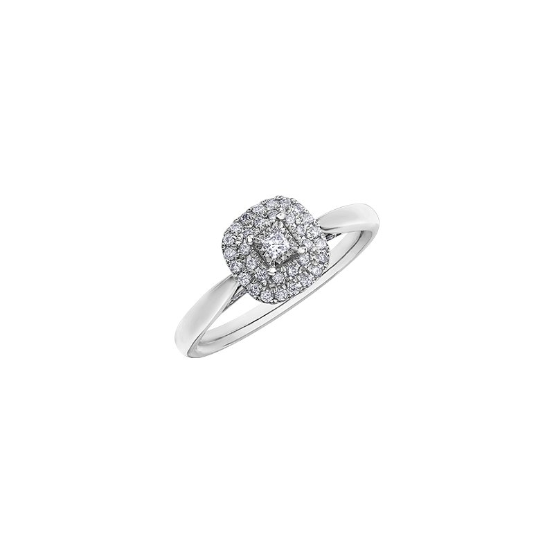 D of D Signature Round Brilliant Ring with Double Halo