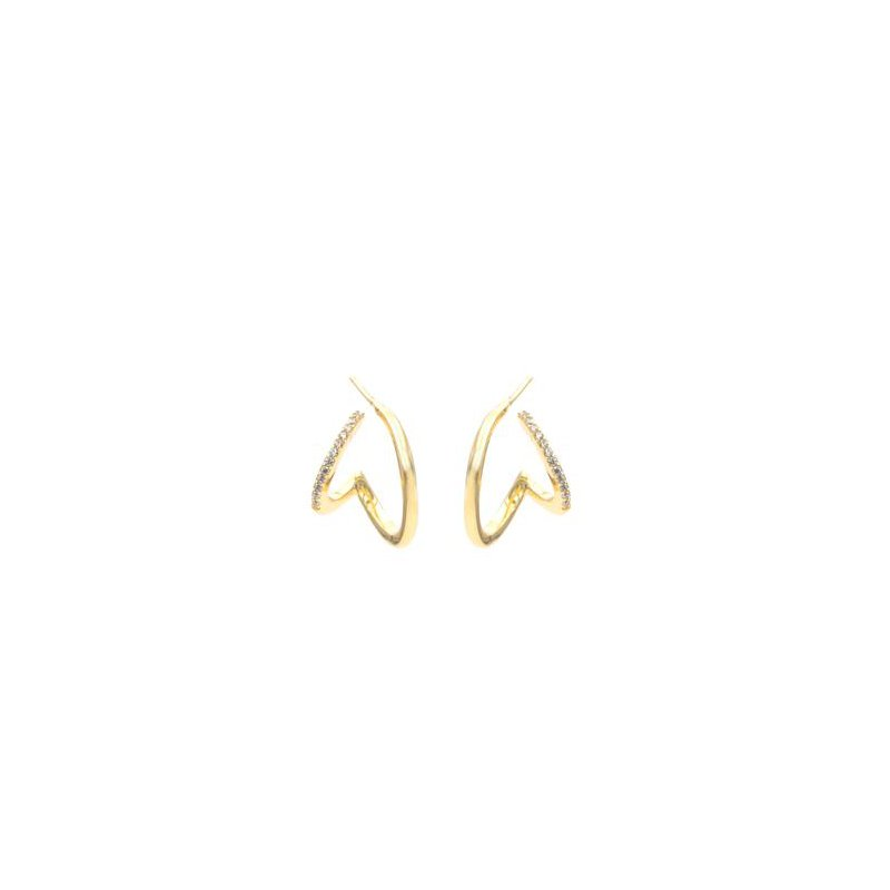 "eLiasz and eLLa ""Perspective"" Double Wrap Earrings in Gold Tone"