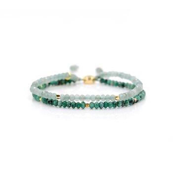 """Seascape"" Doublestrand Stone Bangin' Bracelet"