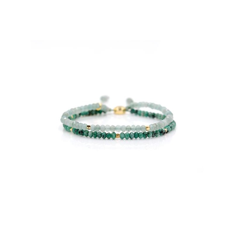 "eLiasz and eLLa ""Seascape"" Doublestrand Stone Bangin' Bracelet"