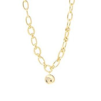 """Vivid"" Gold Tone Necklace"