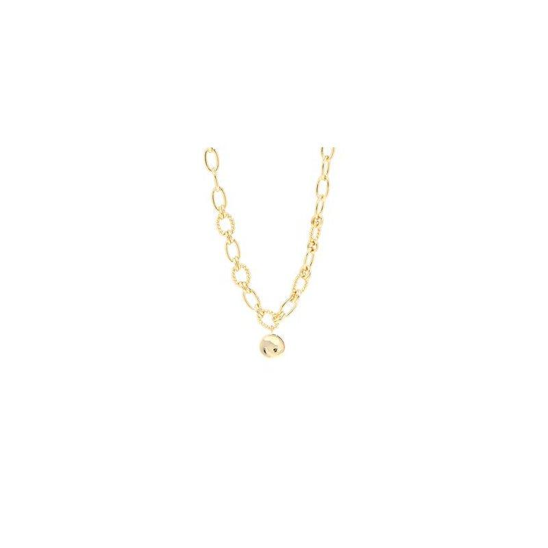 """eLiasz and eLLa """"Vivid"""" Gold Tone Necklace"""