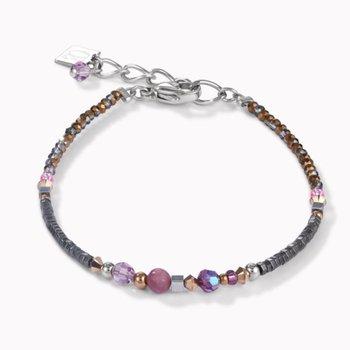 Bracelet Amulet Small Swarovski® Crystals & Lepidolite Amethyst