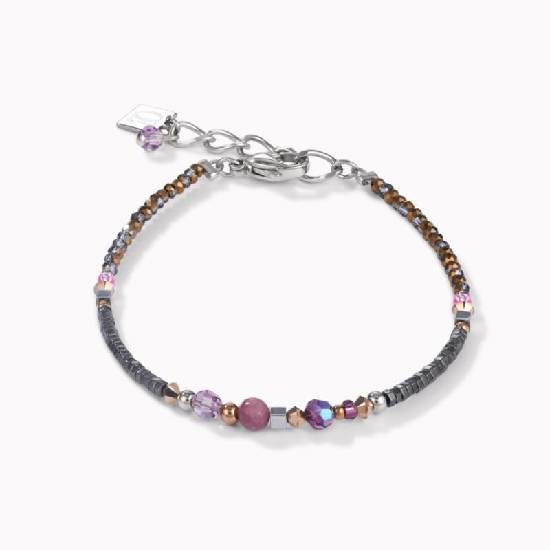Coeur De Lion Bracelet Amulet Small Swarovski® Crystals & Lepidolite Amethyst