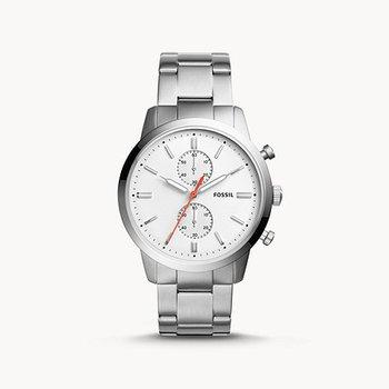 Men's White/Silver Metal Watch