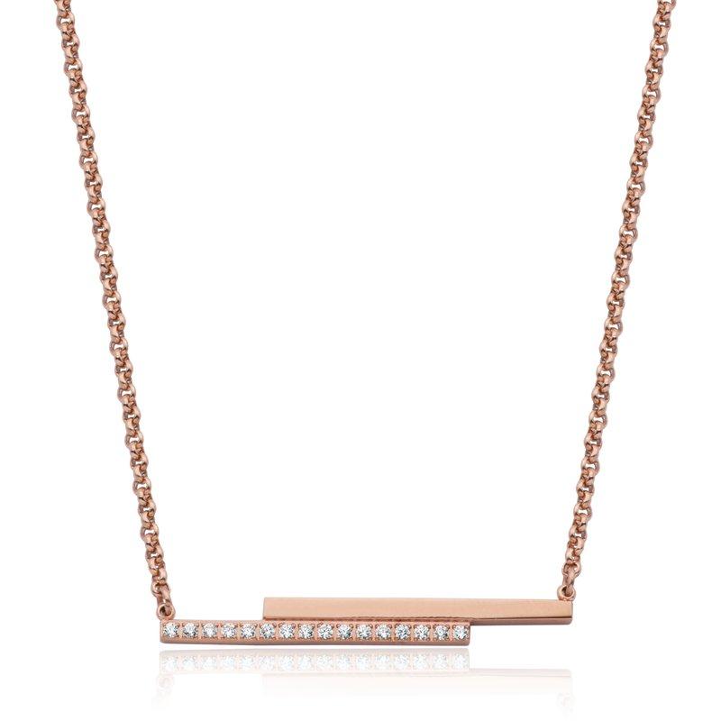 STEELX CZ Bar Necklace