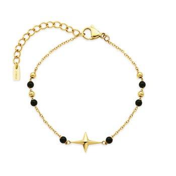 Black Bead Star Bracelet