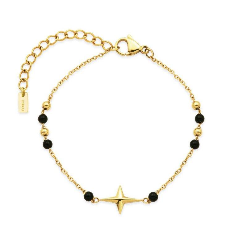 STEELX Black Bead Star Bracelet