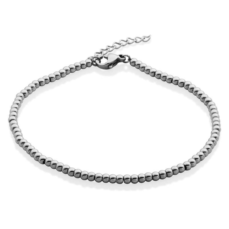 STEELX Silver Bead Bracelet