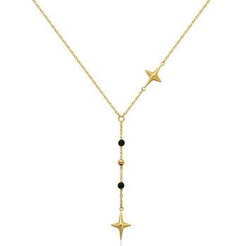 Black Bead Star Necklace