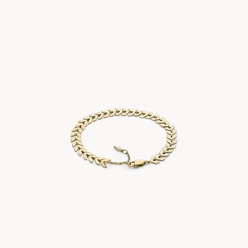 Fossil Gold-Tone Brass Chevron Bracelet