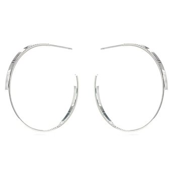 """Classic Silver""  Hoop Earrings"