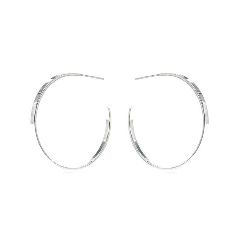"""eLiasz and eLLa """"Classic Silver""""  Hoop Earrings"""