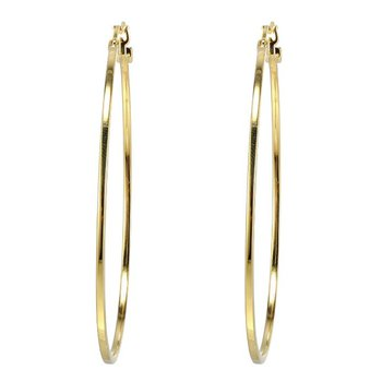 LARGE GOLD TONE HOOPS