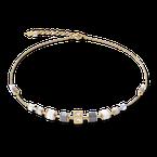 Coeur De Lion Necklace GeoCUBE® Cube & chain stainless steel & gold