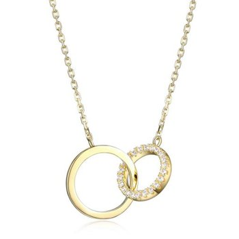 Interlocking CZ Pendant Necklace